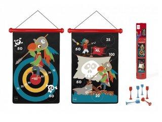 Mágneses darts Kalózok, ügyességi játék 40x31 cm (Scratch, 5-10 év)