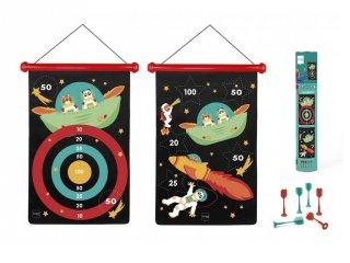 Mágneses darts Világűr, ügyességi játék 40x31 cm (Scratch, 5-10 év)
