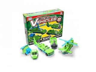 Mágneses építő szett 2, járművek (Popular,kreatív építőjáték, 3-7 év)