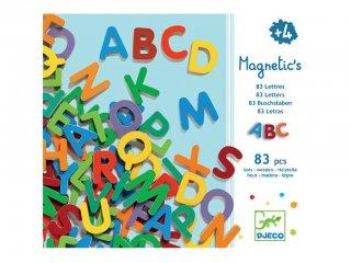 Mágneses fa betűkészlet: nagybetűk (Djeco, 3101, 83 db-os fajáték, 3-10 év)