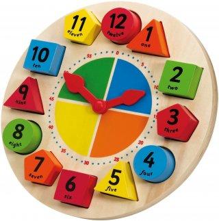 Mágneses fa formaberakó óra (Tidlo, 0086, a számok-, formák-, az idő megismerését bevezető fajáték, 2-5 év)