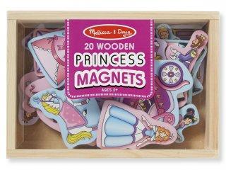 Mágneses fajáték, Hercegnők (Melissa&Doug, 20 db-os kreatív fajáték, 2-5 év)