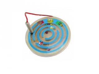 Mágneses golyóvezető, cicás (FP, fa mágneses ügyességi játék, 2-5 év)