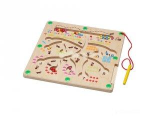 Mágneses golyóvezető hangya királyság, fa készségfejlesztő játék (3-7 év)