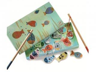 Mágneses horgászat, Mintás halak (Djeco, 1650, ügyességi társasjáték, 2-4 év)