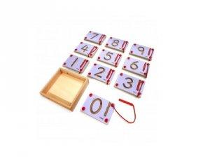 Mágneses íráselőkészítő számokkal, logikai készségfejlesztő fajáték (FP, 3-7 év)