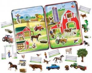 Mágneses kirakó: Farm (TS Shure, 4061, kreatív képalkotó játék, 3-7 év)