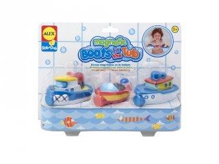 Mágneses kishajók Alex 3 db-os fürdőjáték