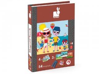 Mágneses könyv, 4 évszak (Janod, öltöztető játék, 3-8 év)