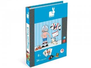 Mágneses könyv, fiú (Janod, öltöztető játék, 3-8 év)