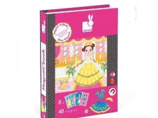 Mágneses könyv, hercegnők (Janod, öltöztető játék, 3-8 év)