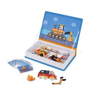 Mágneses könyv Janod kreatív játék, járművek (2715, 3-8 év)