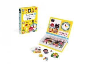 Mágneses könyv Janod kreatív játék, tanulom az órát (3-8 év)