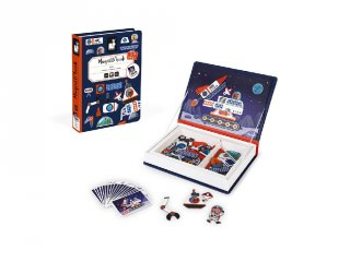 Mágneses könyv Janod kreatív játék, űrrakéta (2589, 3-8 év)