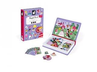 Mágneses könyv Janod öltöztető kreatív játék, hercegnős (2725, 3-8 év)