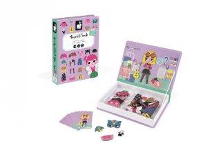 Mágneses könyv Janod öltöztető kreatív játék, lányos (2718, 3-8 év)