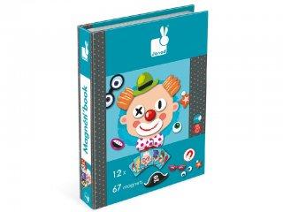 Mágneses könyv, vicces arcok (Janod, öltöztető játék, 3-8 év)