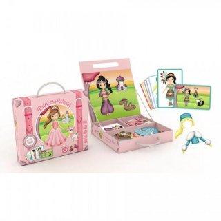 Mágneses öltöztető játék 48 db-os, A világ hercegnői (3-8 év)