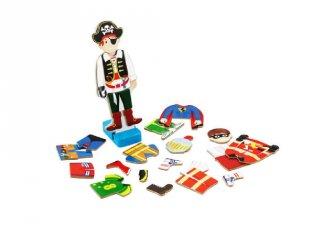 Mágneses öltöztetős játék fiús, kreatív fajáték (3-6 év)