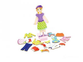 Mágneses öltöztetős játék lányos, kreatív fajáték (3-6 év)