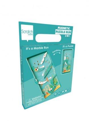 Mágneses puzzle és flipper Bálnás, 2 az 1-ben ügyességi játék (Scratch, 3-8 év)