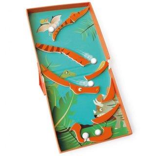 Mágneses puzzle és flipper Dínós, 2 az 1-ben ügyességi játék (Scratch, 3-8 év)