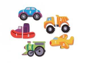 Mágneses puzzle, Járművek  (LR, 5 db kirakó, 2-6 év)
