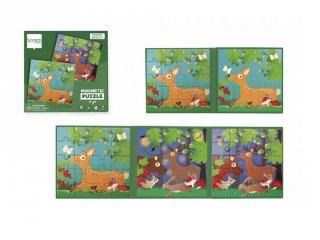 Mágneses puzzle könyv Erdő, 20 db-os kirakó (Scratch, 3-6 év)