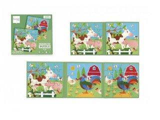 Mágneses puzzle könyv Farm, 20 db-os kirakó (Scratch, 3-6 év)
