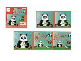 Mágneses puzzle könyv Panda, 20 db-os kirakó (Scratch, 3-6 év)