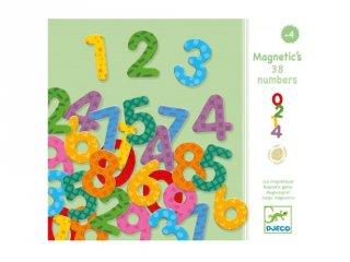 Mágneses számok (Djeco, 3103, 38 db-os számkészlet, 4-10 év)