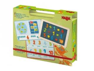 Mágnesjáték doboz  Számolj 1,2,3, Haba készségfejlesztő játék (302589, 3-6 év)