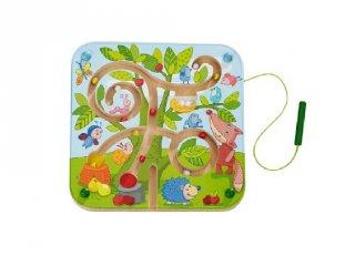 Mágnesjáték fa labirintus, készségfejlesztő babajáték (2-4 év)