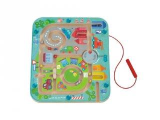 Mágnesjáték város labirintus, készségfejlesztő babajáték (301056, 2-4 év)