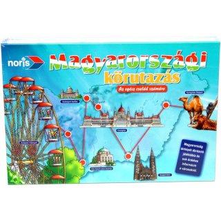 Magyarországi körutazás (Noris, oktató- és fejlesztő családi társasjáték, 5-99 év)