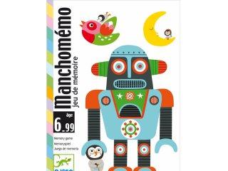 Manchomémo (Djeco, 5131, memória kártyajáték extrákkal, 5-99 év)