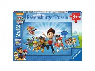 Mancs őrjárat 2×12 db-os puzzle, Ryder és csapata (Paw Petrol, Ravensburger puzzle, 2-5 év)