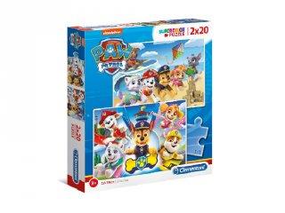 Mancs őrjárat 2 az 1-ben Supercolor kirakó, 2x20 db-os puzzle (CLEM, 3-5 év)
