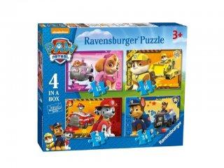 Mancs őrjárat 4in1 puzzle (Paw Petrol, Ravensburger puzzle, 2-5 év)