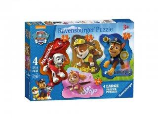 Mancs őrjárat 4in1 sziluett puzzle (Paw Petrol, Ravensburger puzzle, 2-5 év)