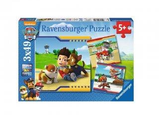 Mancs őrjárat puzzle 3×49 db-os (Paw Petrol, Ravensburger puzzle, 5-7 év)
