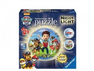 Mancs őrjárat világítós gömb puzzle lámpa 72 db-os (Paw Petrol, Ravensburger, 5-12 év)
