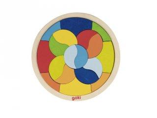 Mandala puzzle, fa készségfejlesztő játék (Goki, 4-6 év)