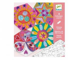 Mandala színező csillagképek, Djeco kreatív készlet - 9655 (6-9 év)