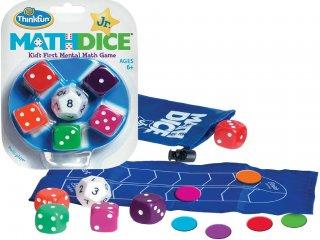 Math Dice Junior, összeadás-kivonás (Thinkfun, 21531, matematikai, logikai kockajáték, 6-99 év)