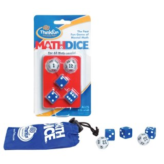 Math Dice, matematikai műveletek (Thinkfun, 20069, matematikai, logikai kockajáték, 8-99 év)
