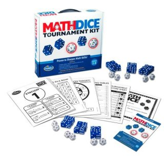 Math Dice Tournament kit, matematikai verseny (Thinkfun, 30688, matematikai, logikai társasjáték, 6 db készlet, 12-18 fő,  8-99 év)