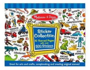 Matrica gyűjtemény, 500 db-os (melissa&doug, Sticker Collection, matricás kreatív szett fiúknak, 3-8 év)