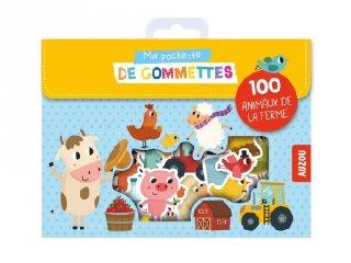 Matrica készlet Farm állatok, 100 db-os kreatív szett (AU, 2-6 év)