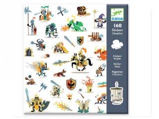 Matricák, Lovagok (Djeco, 8886, 160 db-os matricakészlet, 4-8 év)